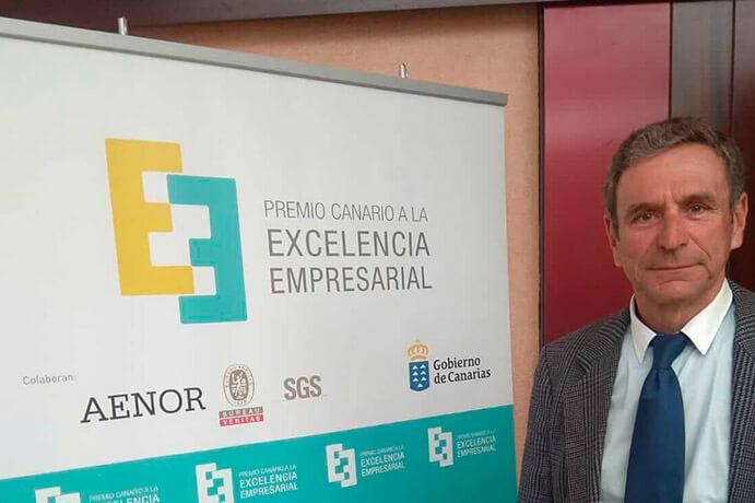 Augusto Guerra, gerente de Interjardin, invitado a los Premios Canarios a la Excelencia Empresarial